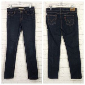 Levi's 545 Bulto Low Skinny Dark Wash Jeans 6M